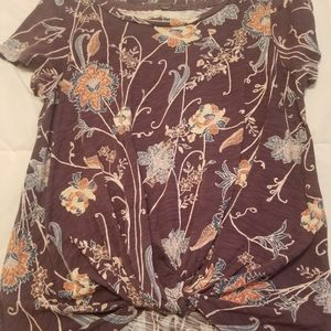 Cupid plum color top with flower design